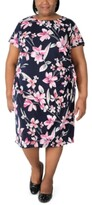 Thumbnail for your product : Robbie Bee Plus Size Floral-Print Sarong Dress