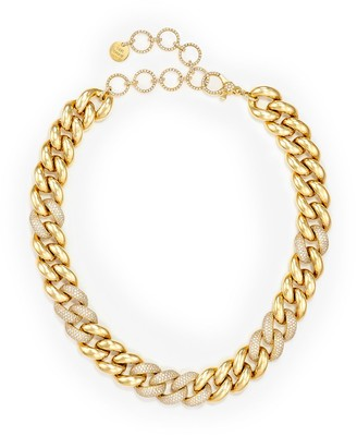 Shay 18kt Yellow Gold Jumbo Alternating Pave Diamond Necklace