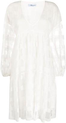 Blumarine sheer pattern dress