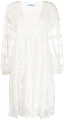 Blumarine Sheer Pattern Dress