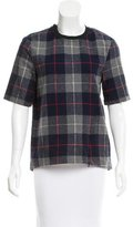 Rag & Bone Short Sleeve Plaid Top