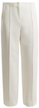 Diane von Furstenberg Mid-rise Wide-leg Side-striped Trousers - Womens - White