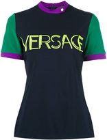 Versace logo print top - women - Viscose/Spandex/Elastane - 40