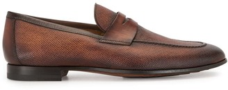 Magnanni Textured Penny Loafers