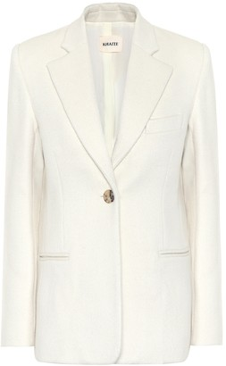 KHAITE Vera wool and alpaca-blend blazer