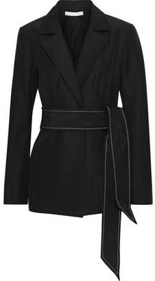 Rachel Gilbert Cher Belted Cotton And Silk-blend Jacket
