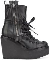Pierre Hardy 'Manga' wedge boots - women - Leather/rubber - 40