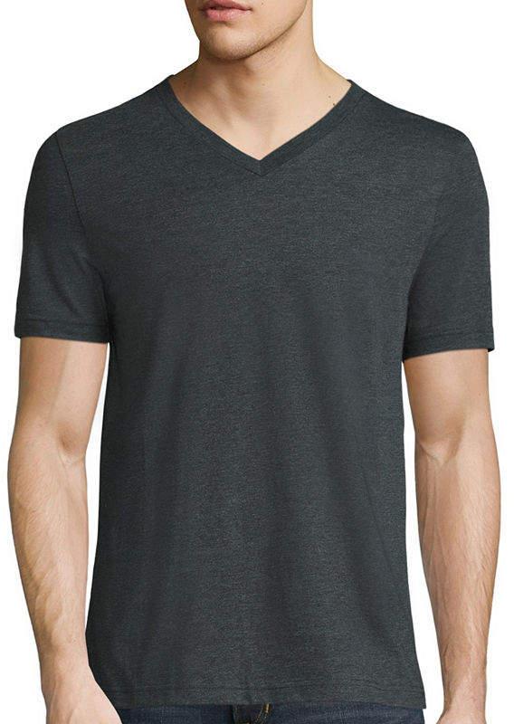 6df76d935a0 Mens Dark Grey V Neck T Shirt - ShopStyle
