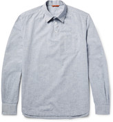 Barena - Half-placket Slub Cotton-chambray Shirt