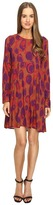 Manila Grace Printed Long Sleeve Dress Women's Dress
