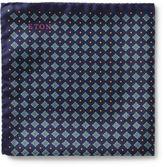 Eton Floral Spot Print Pocket Square