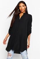 boohoo Grace Longline Oversized Sleeve Shirt