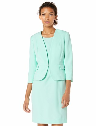 Le Suit LeSuit Women's Stretch Crepe KISS Front Jacket and Dress