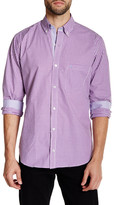 Tailorbyrd Purple Long Sleeve Checkered Woven Shirt