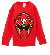 Power Rangers (NJSB972 Little Boys' TMNT Video Bit Map Graphic Sweater in Size: