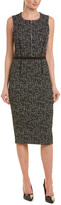 Michael Kors Wool & Silk-Blend Sheath Dress