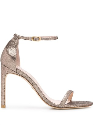 Stuart Weitzman The Nudist Song metallized sandals
