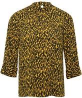 M&Co Animal print high neck blouse