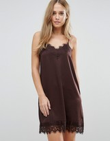 Vila Cami Slip Dress With Lace Detail