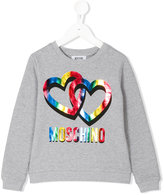 Moschino logo print sweatshirt - kids - Cotton/Spandex/Elastane - 4 yrs