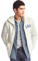 Gap Chambray logo flag print zip hoodie
