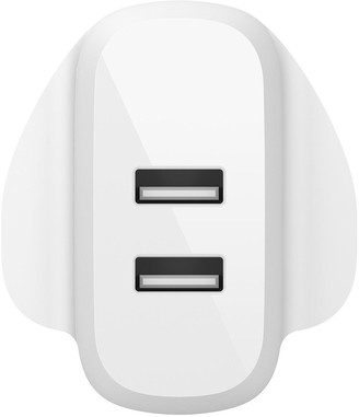 Belkin Boost?Charge Dual Usb-A Wall Charger 24W + Lightning To Usb-A Cable