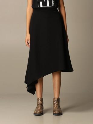 Armani Collezioni Armani Exchange Skirt Fluid Asymmetrical Midi
