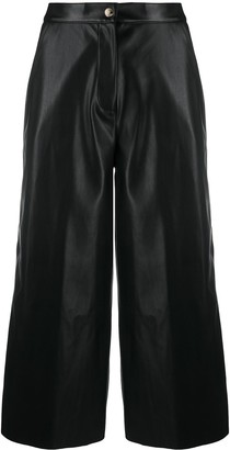 Semi-Couture Faux Leather Culotte Trousers