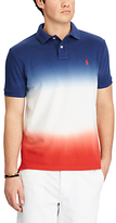 Polo Ralph Lauren Custom Slim Fit Cotton Polo Shirt, Dark Cobalt/white/red Beret