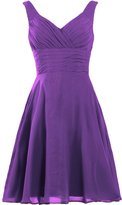 ANTS Women's Pleated Sweetheart Bridesmaid Dresses A Line Cocktail Gown Size US