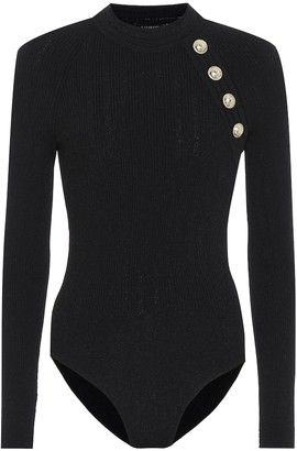 Balmain Ribbed-knit bodysuit