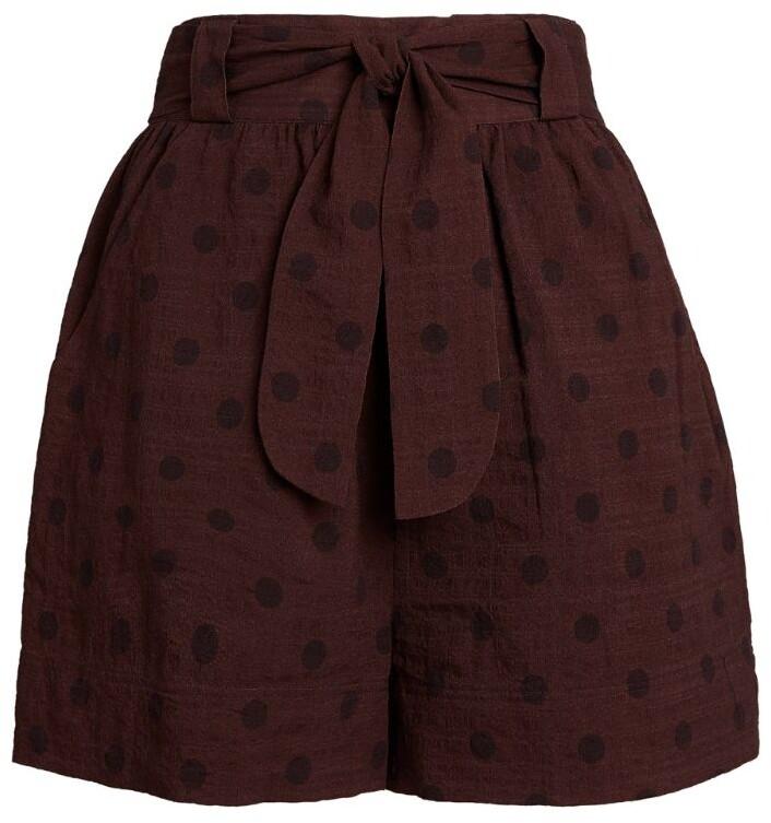 Peony Swimwear Belted Raisin Shorts