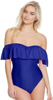 Betsey Johnson Malibu Solids Ruffle One Piece