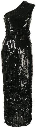 Rachel Gilbert Hunter sequin-embellished sleeveless gown