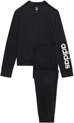 adidas Printed Cotton-blend Track Jacket And Pants Set