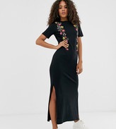 Asos Tall DESIGN Tall printed floral midi t-shirt dress
