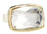 Jamie Joseph Rectangular Rock Crystal Ring