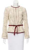 Lela Rose Floral Pattern Lightweight Jacket