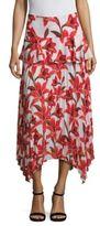 Delfi Collective Pleated Ruffled Midi Skirt