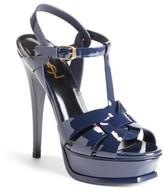 Saint Laurent Women's Tribute T-Strap Platform Sandal