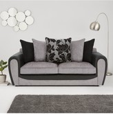 Fleur Fabric and Faux Snakeskin 3 Seater Scatter Back Sofa
