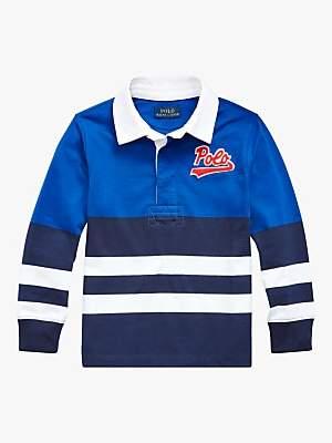 Ralph Lauren Polo Boys' Rugby Top, Blue