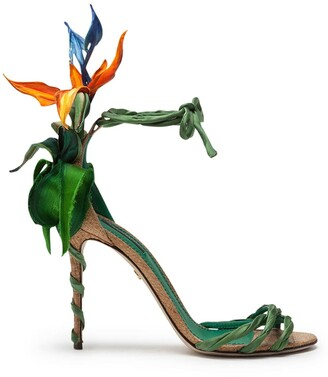 Dolce & Gabbana Bird of Paradise satin sandals