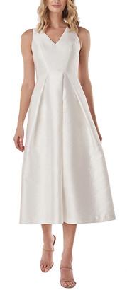 Kay Unger Maxime Textured Jacquard Midi Dress