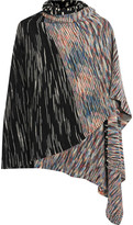 Missoni Striped Wool-blend Wrap - Black