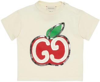 Gucci Baby GG apple print cotton T-shirt