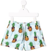 MC2 Saint Barth Kids pineapple print swim shorts