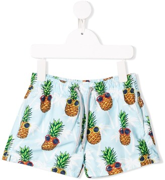 MC2 Saint Barth Kids pineapple print swim shorts