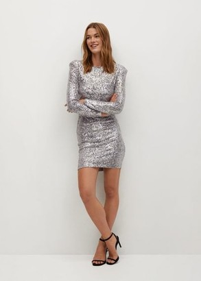 MANGO Short sequin dress copper - 2 - Women