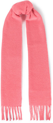 Acne Studios Villy Fringed Wool-blend Boucle Scarf